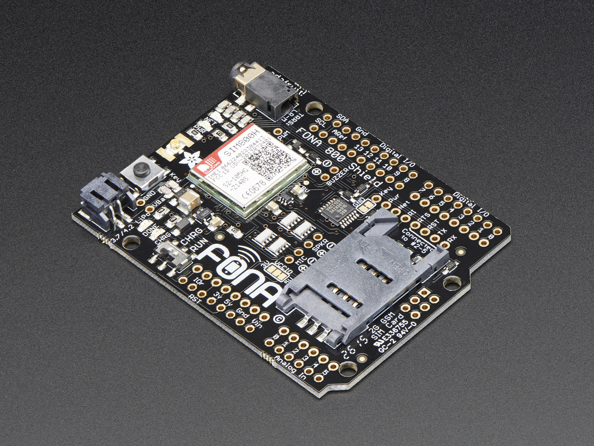 Adafruit FONA 800 Shield - Voice/Data Cellular GSM for Arduino ID