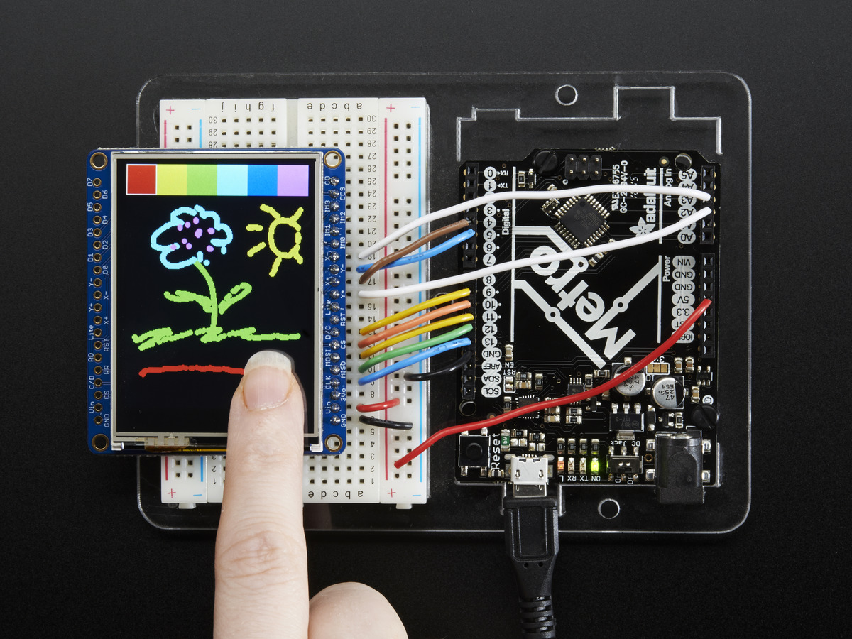 "Adafruit 2.4"" TFT LCD with Touchscreen Breakout w/MicroSD Socket - ILI9341  ..."