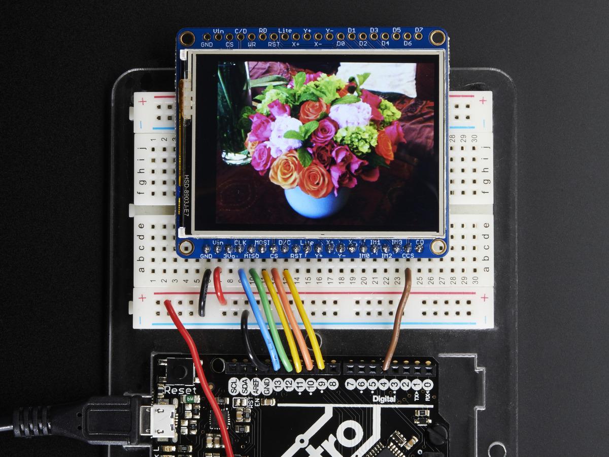 Adafruit 2 4 TFT LCD with Touchscreen Breakout w/MicroSD