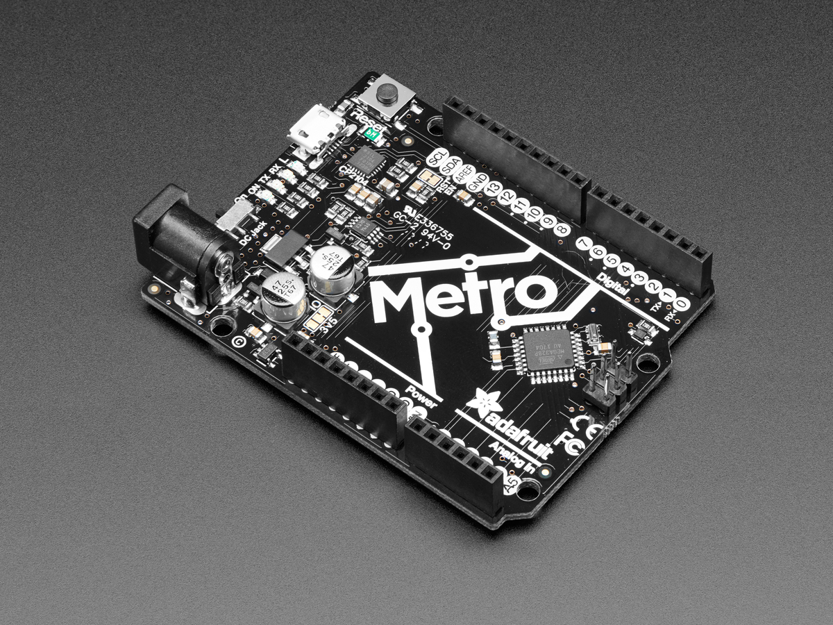 Adafruit Metro 328 Arduino Compatible With Headers Atmega328 Home Circuit Protection Timers Analogue Digital Battery Back Up