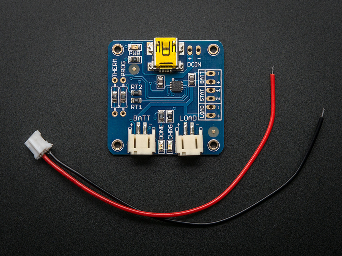Usb Liion Lipoly Charger V12 Id 259 1250 Adafruit Here Is A Simple Circuit For Charging Car Battery 12v The