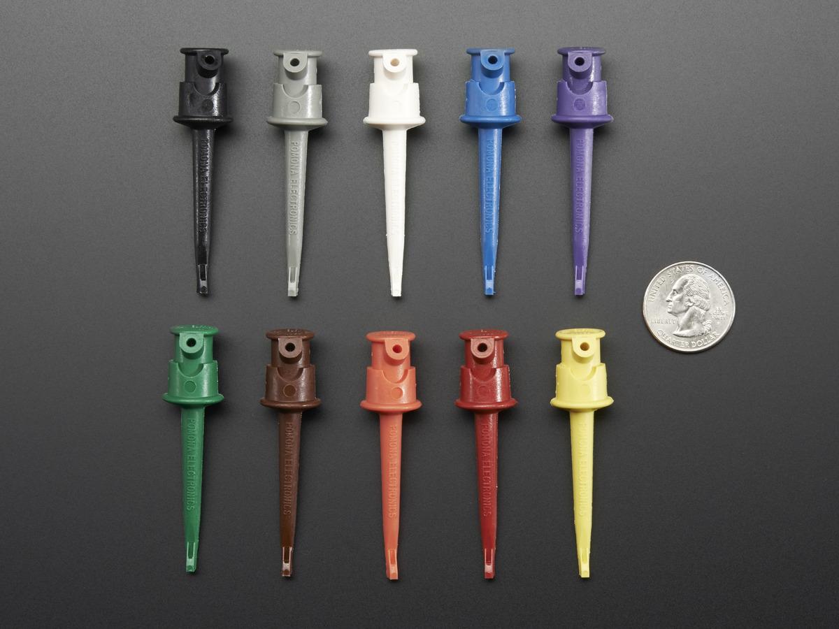 Pomona Minigrabber Test Clip Kit - Multi-Color Pack of 10