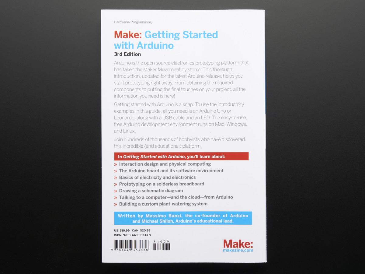 Getting Started with Arduino By Massimo Banzi - 3rd Edition ID: 263 ...