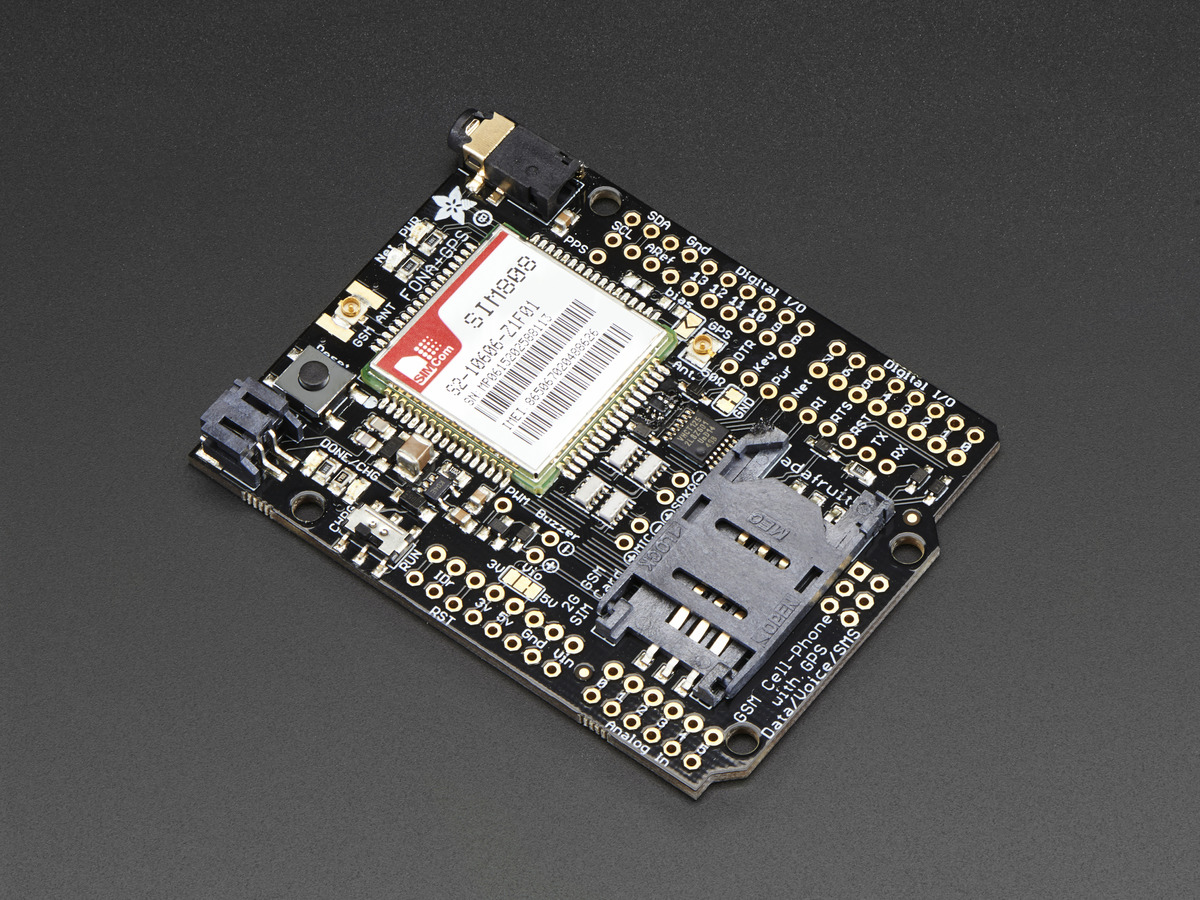 Overview Adafruit Fona 808 Cellular Gps Shield For Arduino Circuit Board Mini Gsm