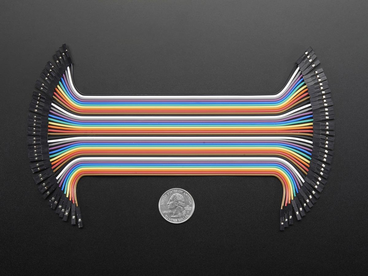 Premium Female Jumper Wires 40 X 6 Id 266 395 Rectangular Pin Wiring Harness 6quot