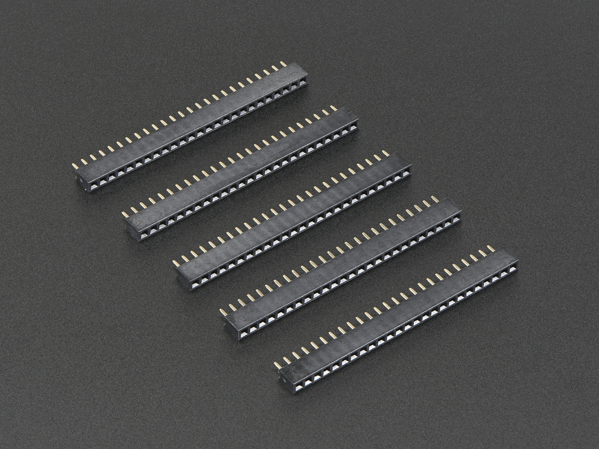... 2mm Pitch 25-Pin Female Socket Headers - Pack of 5 ...