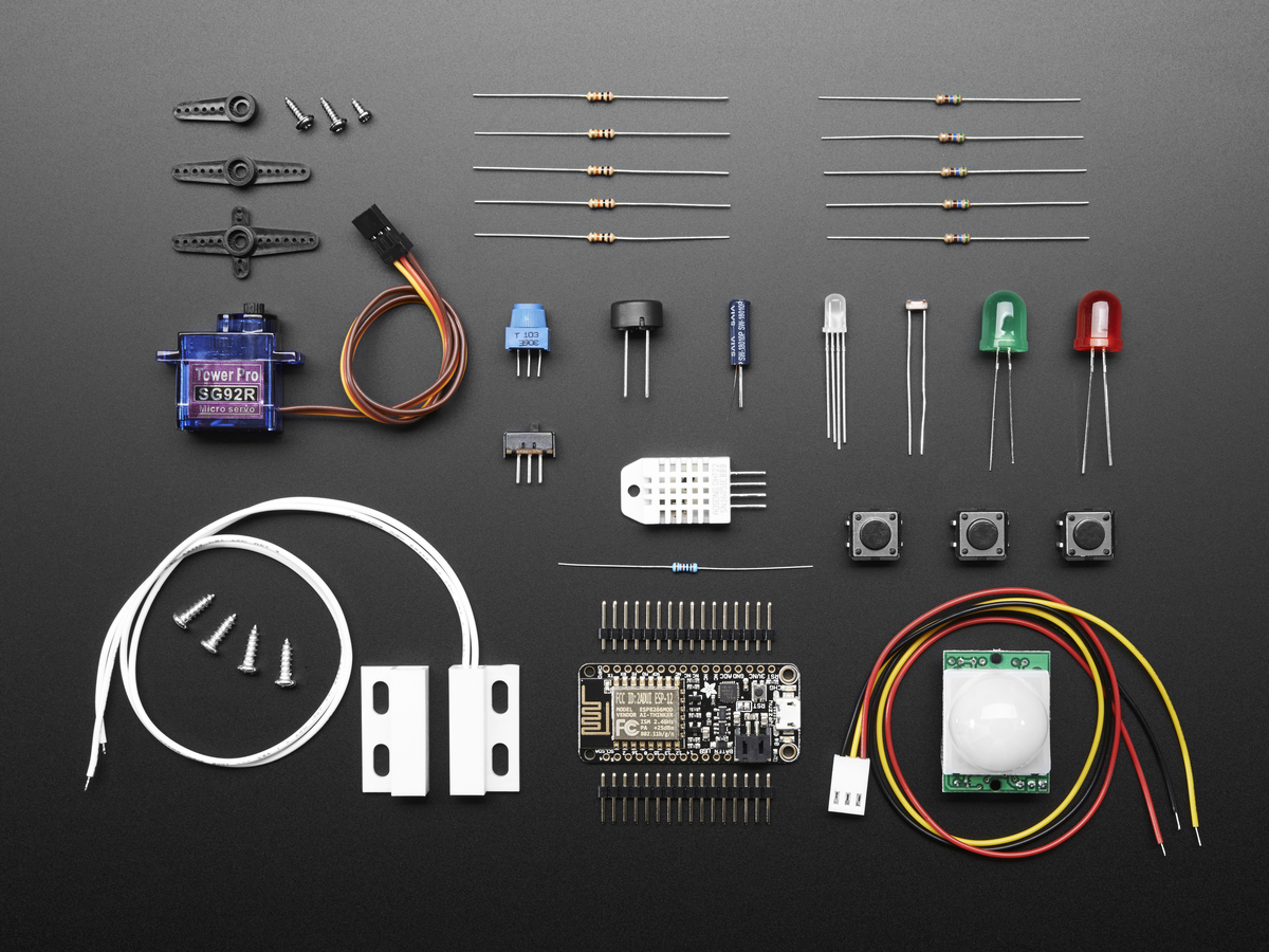 Huzzah Adafruitio Internet Of Things Feather Esp8266 Wifi Starter Audio Kit Digital Thermometer With Pic16f84 Circuit
