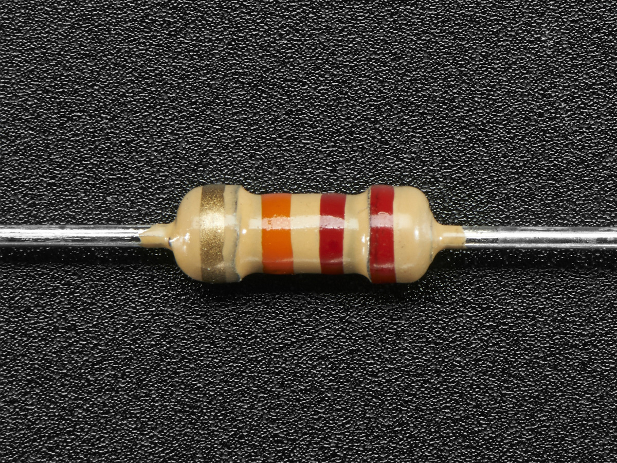 Through-Hole Resistors - 22K ohm 5% 1/4W - Pack of 25 ID: 2785 ...