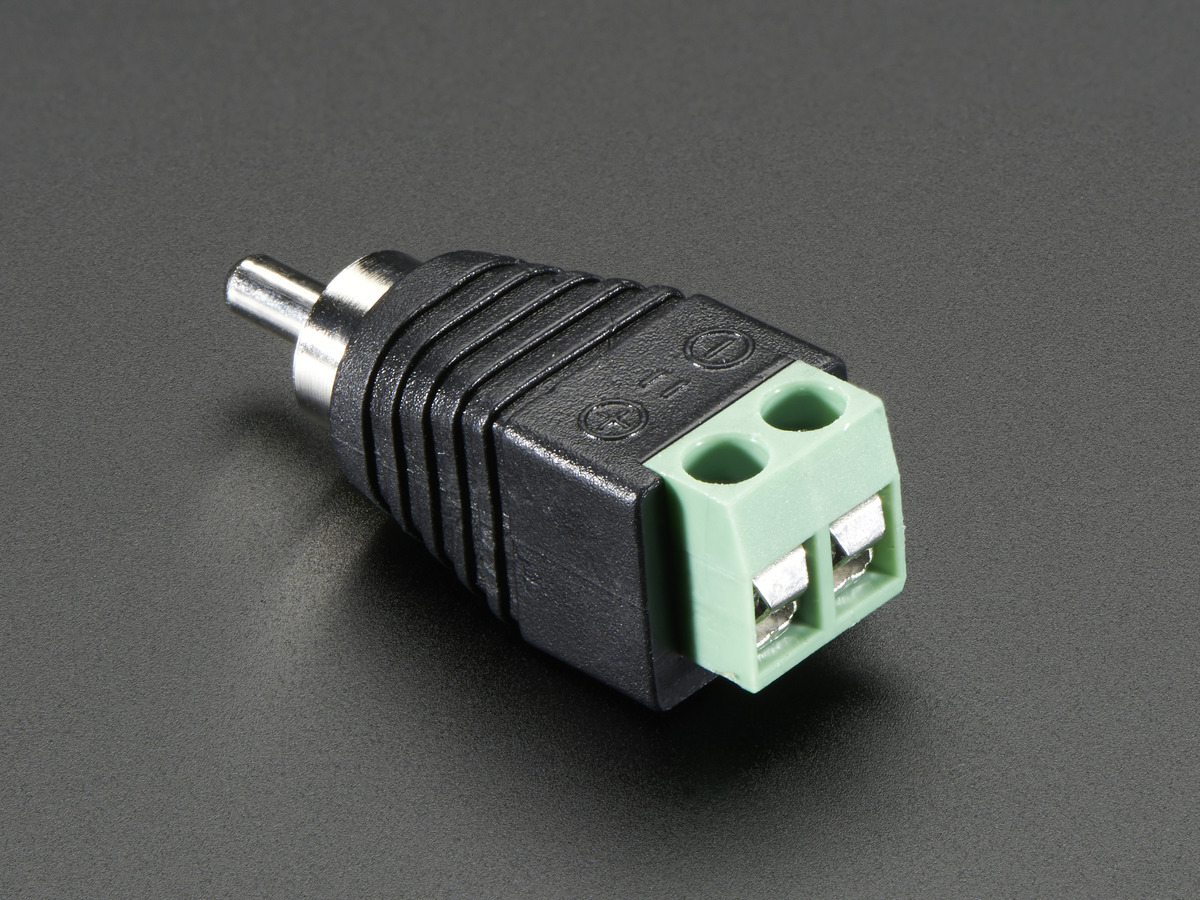rca composite video audio male plug terminal block id 2792 rh adafruit com RCA Plug to Speaker Wire Samsung Speaker Wire Plug to RCA