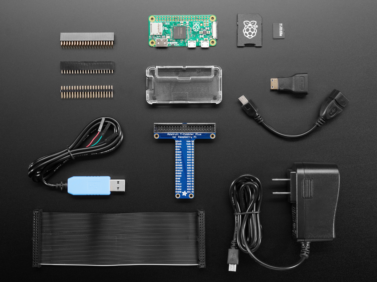 Pi Zero Adafruit Industries Unique Fun Diy Electronics And Kits Pinout Also Vga Cable Diagram Besides Keyboard Connector Raspberry Starter Pack Includes V13