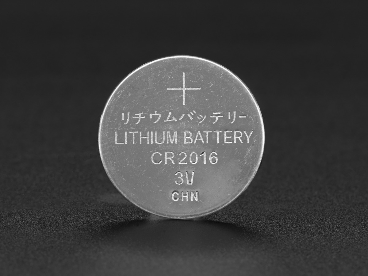 cr2016 lithium coin cell battery id 2849. Black Bedroom Furniture Sets. Home Design Ideas