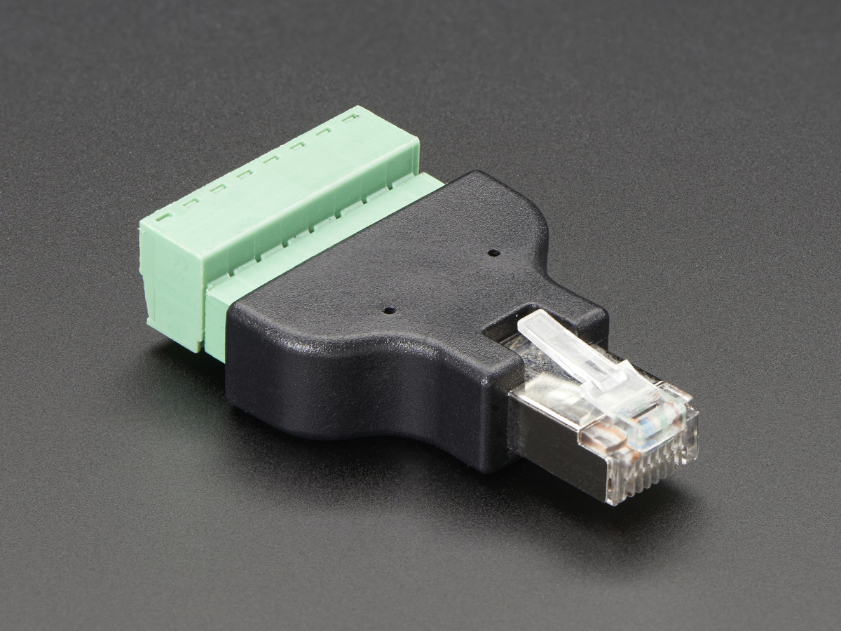 panel mount ethernet extension cable id 909 4 95 adafruit ethernet rj45 male plug terminal block