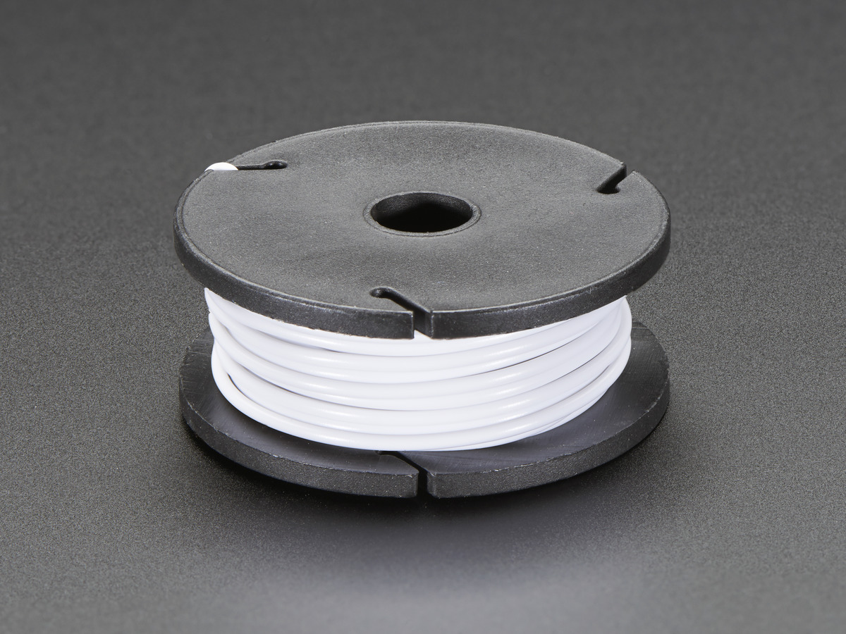 Stranded-Core Wire Spool - 25ft - 22AWG - White ID: 2997 - $2.95 ...