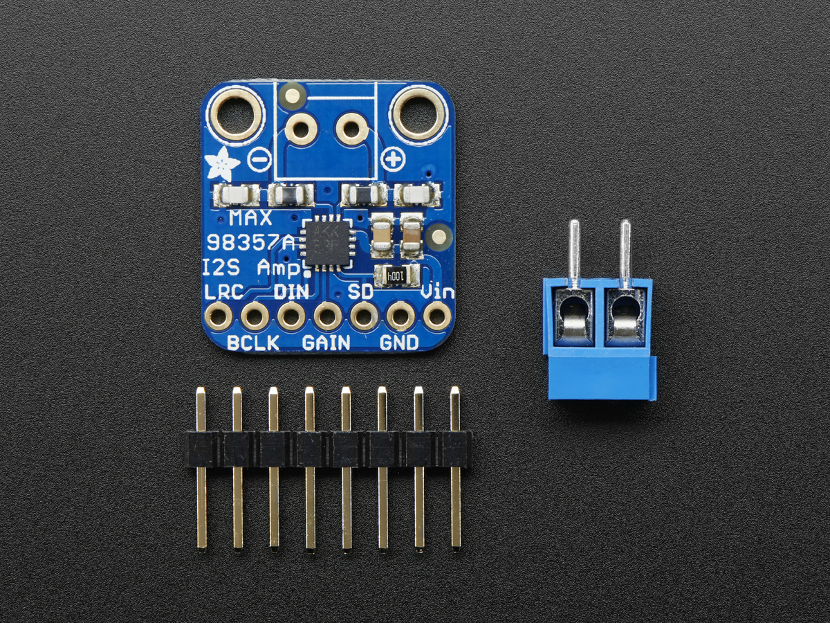 Adafruit I2s 3w Class D Amplifier Breakout Max98357a Id 3006 Block Diagram Of The Headphone Ip Core