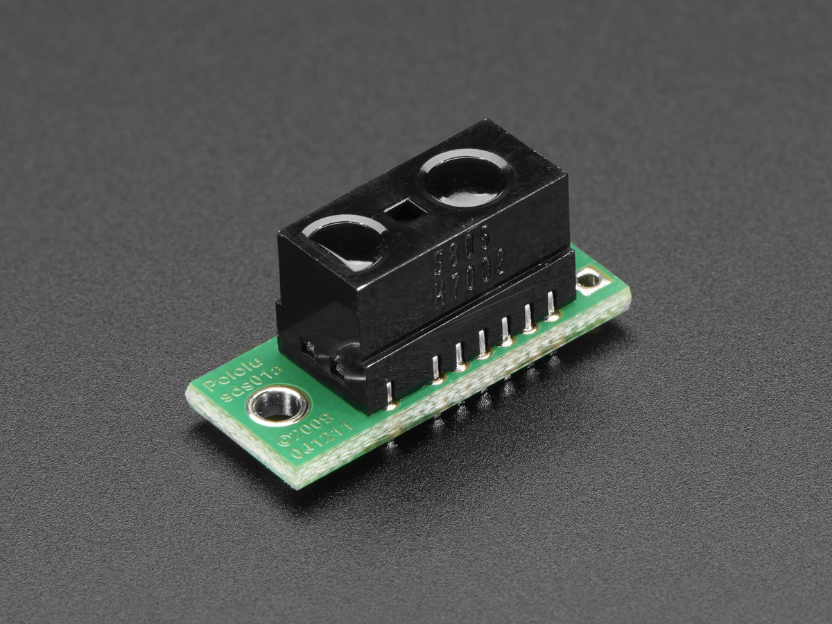 Ir Distance Sensor Includes Cable 100cm 500cm Gp2y0a710k0f Id Infrared Beam Barrier As Well A Proximity Detector The Circuit Uses Sharp Gp2y0d805z0f Digital With Pololu Carrier