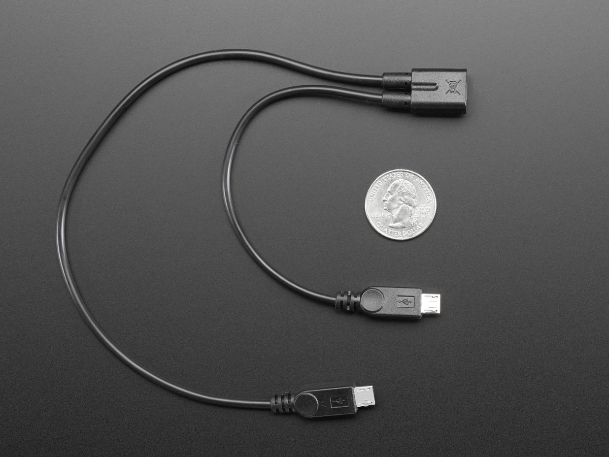 Micro B USB 2-Way Y Splitter Cable ID: 3030 - $2.95 : Adafruit ...