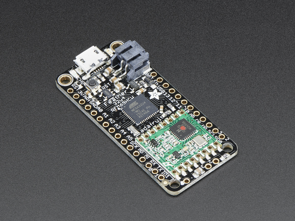 Arduino Adafruit Industries Unique Fun Diy Electronics And Kits Download Image Darlington Pair Amplifier Circuit Pc Android Iphone Feather 32u4 With Rfm69hcw Packet Radio 433mhz Radiofruit