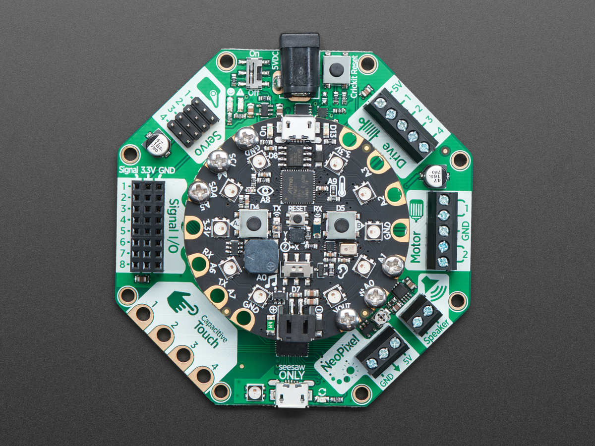 Adafruit Crickit For Circuit Playground Express Id 3093 2995 Rgb Led Strip The Learning System