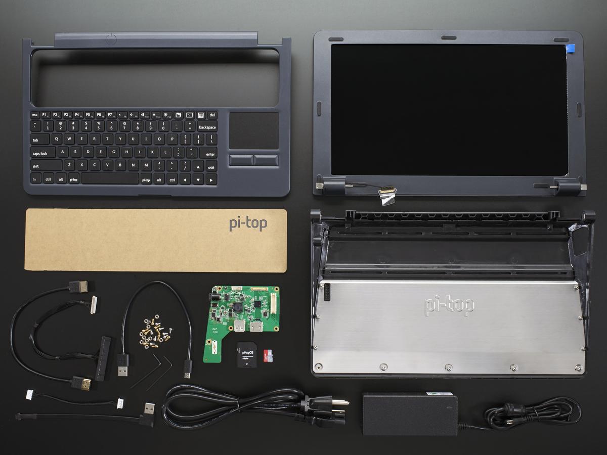Pi Top Grey A Laptop Kit For Raspberry Pi B Pi 2