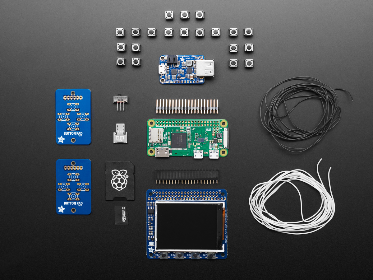 Pigrrl 20 Custom Gamepad Pcb Id 3015 495 Adafruit Industries P Controller Circuit Diagram Pi Grrl Zero Parts Kit Includes W