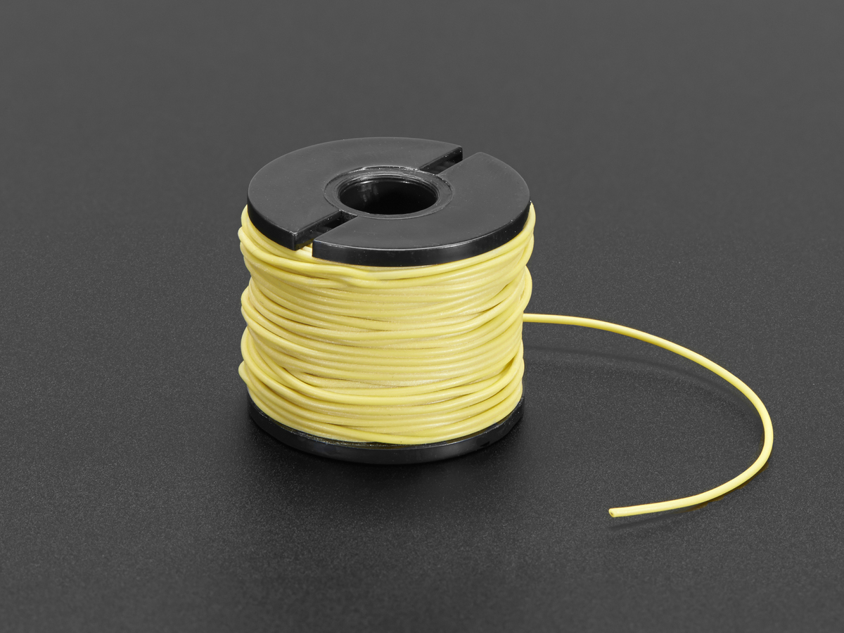 Silicone Cover Stranded-Core Wire - 50ft 30AWG Yellow ID: 3167 ...