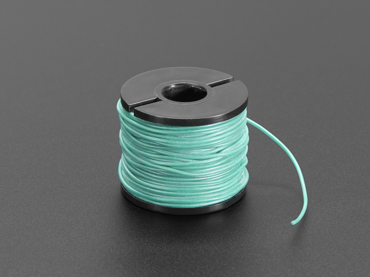 Silicone Cover Stranded-Core Wire - 50ft 30AWG Green ID: 3168 ...