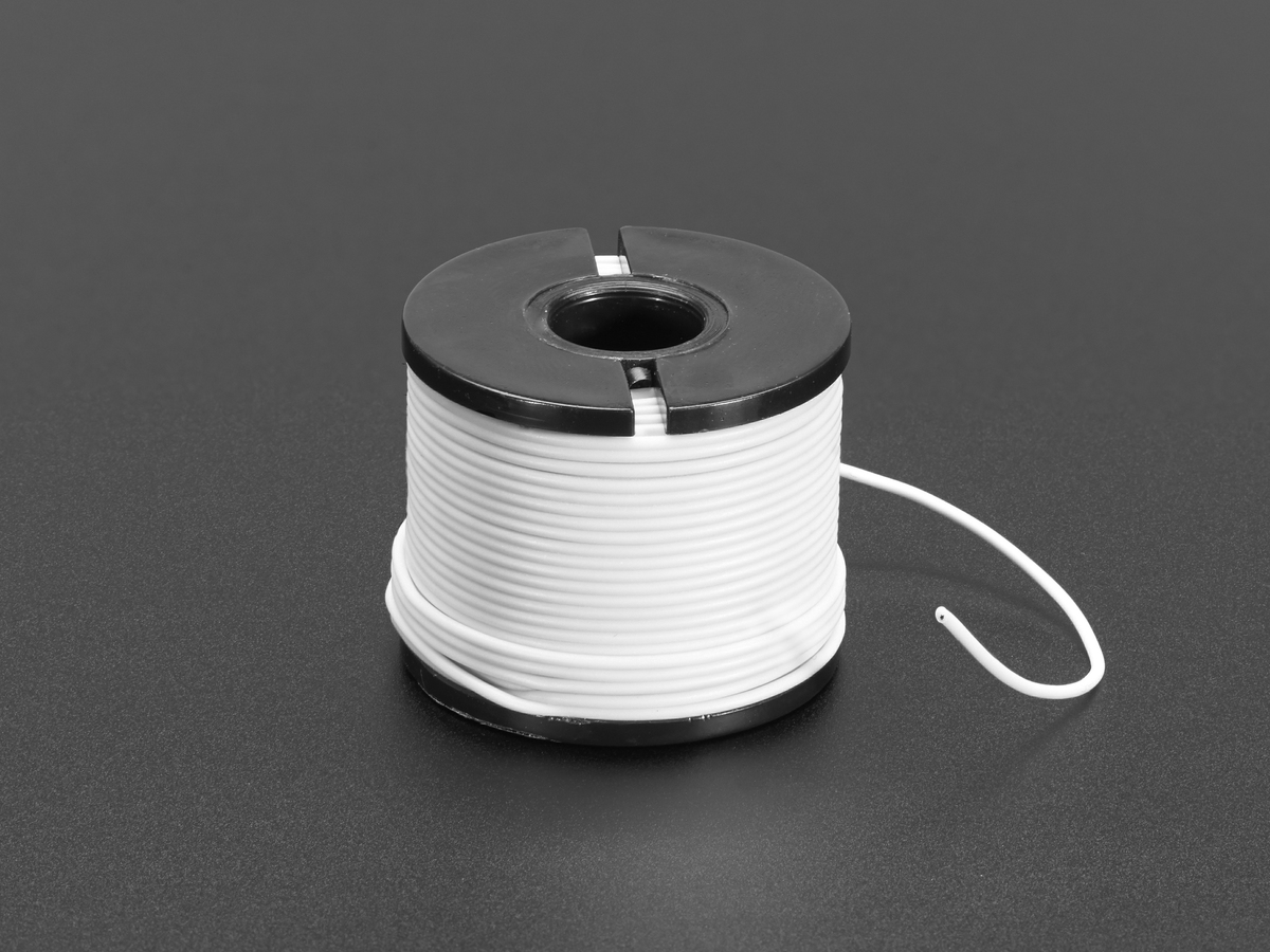 Silicone Cover Stranded-Core Wire - 50ft 30AWG White ID: 3169 ...