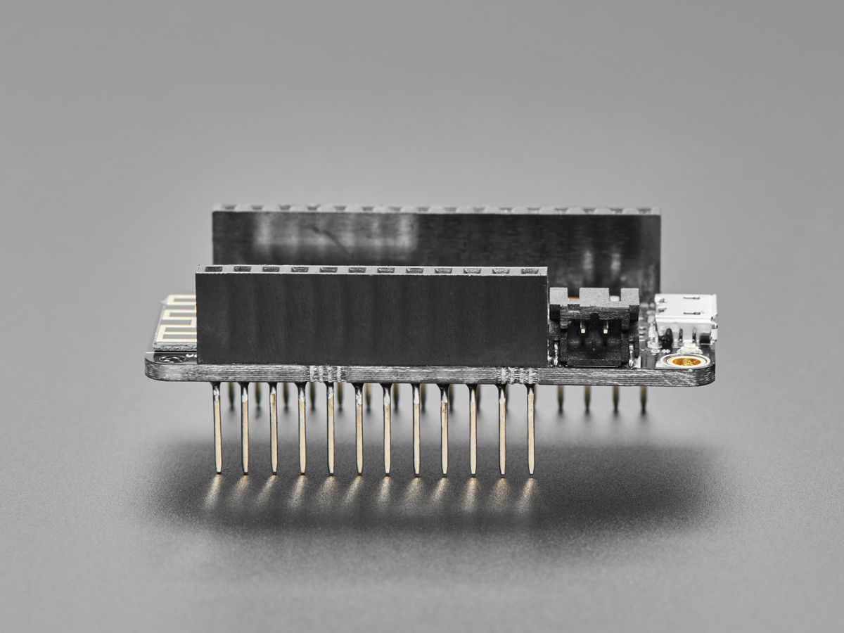 Assembled Feather HUZZAH w/ ESP8266 WiFi With Stacking Headers ID