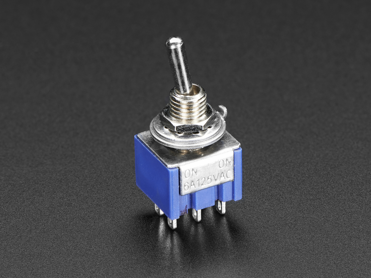 Mini Panel Mount DPDT Toggle Switch ID: 3220 - $1.25 : Adafruit ...