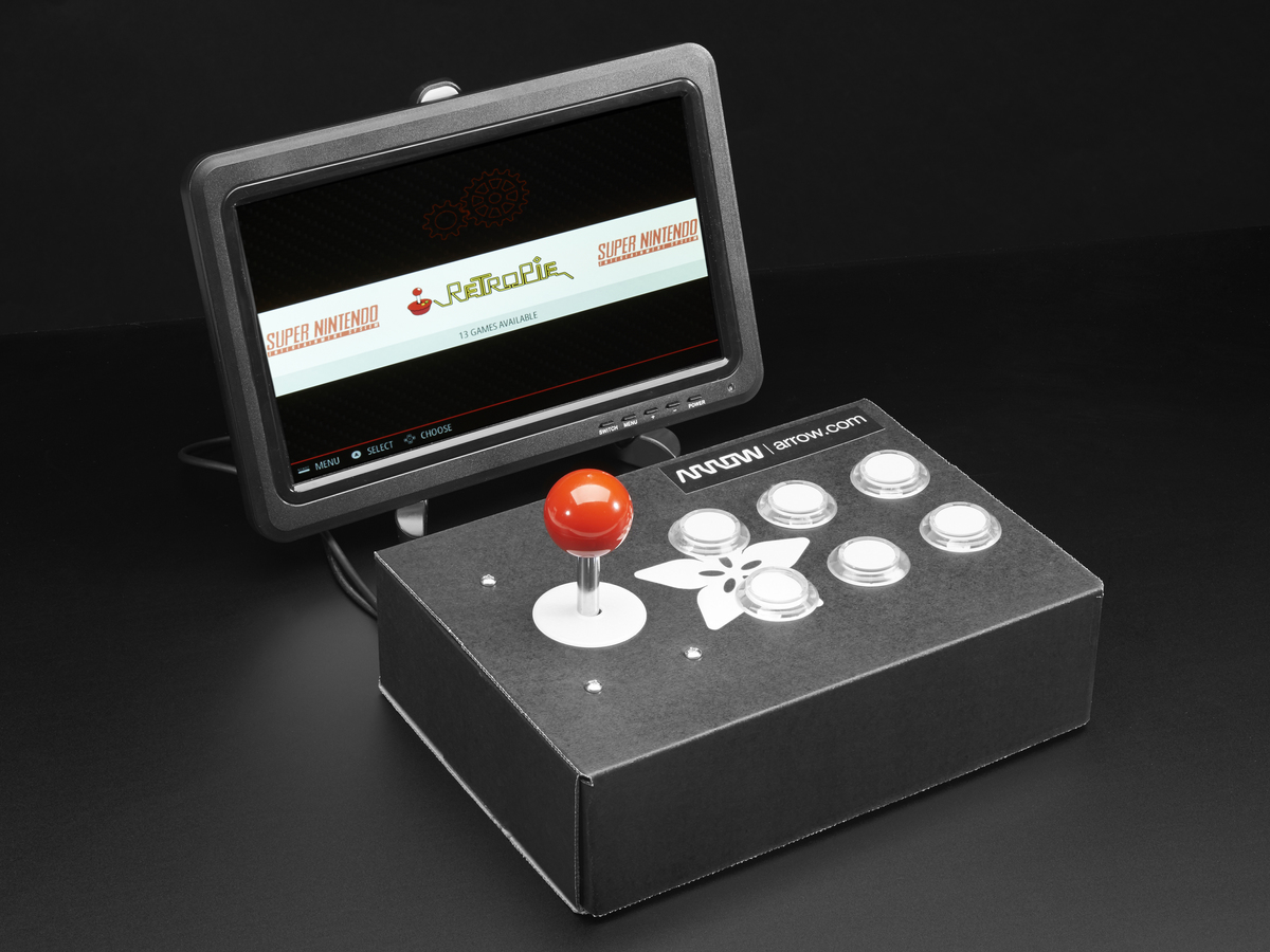 Overview Retro Gaming With Raspberry Pi Adafruit Learning System 12s Plug Wiring Diagram Arcade Cabinet Pack