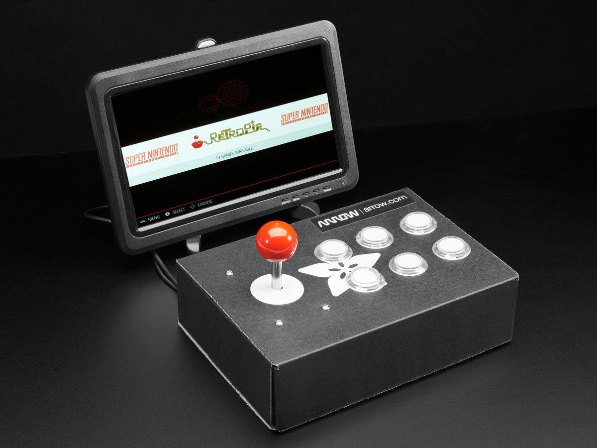 Raspberry Pi Arcade Cabinet Pack ID: 3272 - $59 95