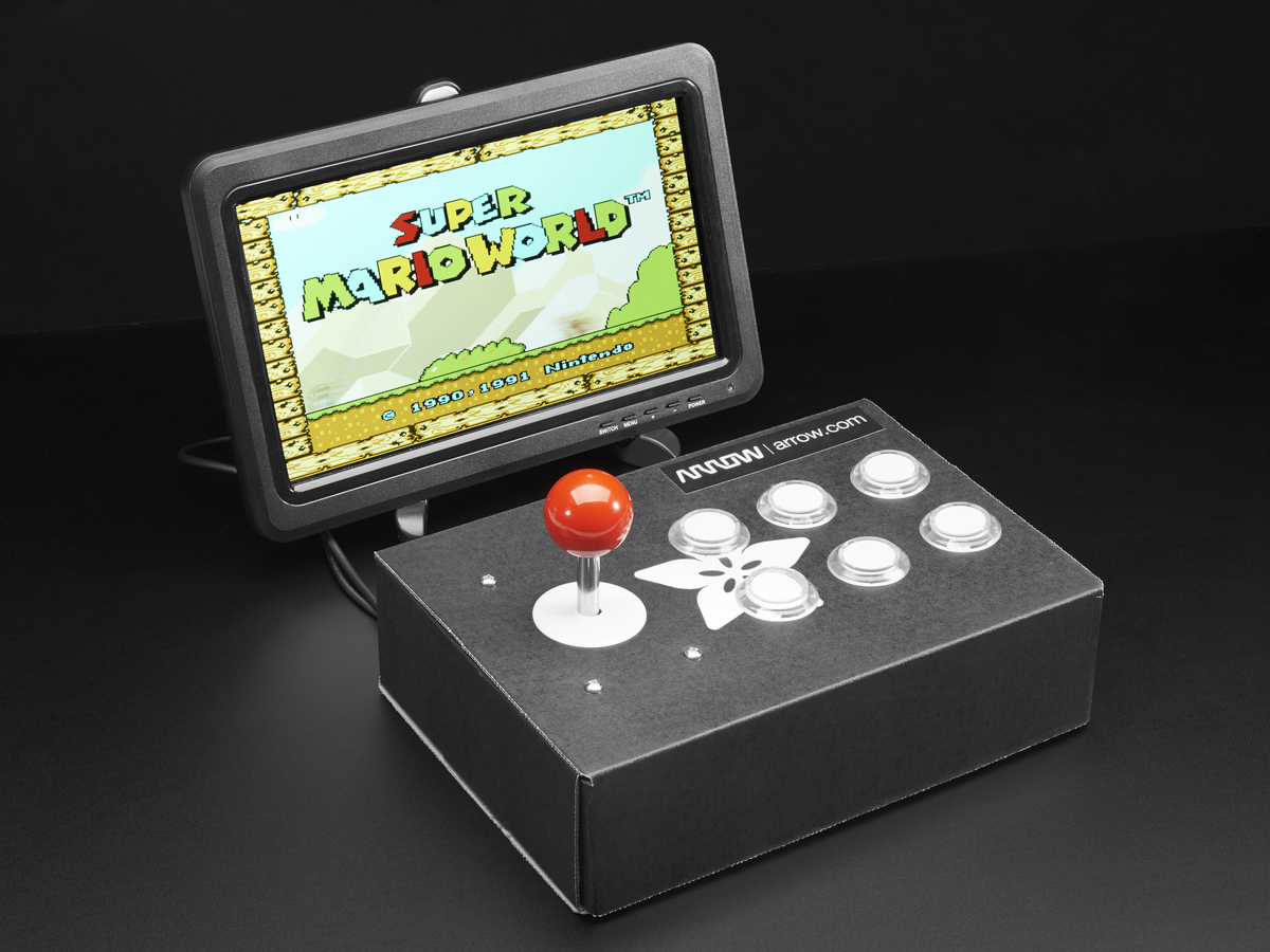 Raspberry Pi Arcade Cabinet Pack ID: 3272 - $59.95 : Adafruit ...