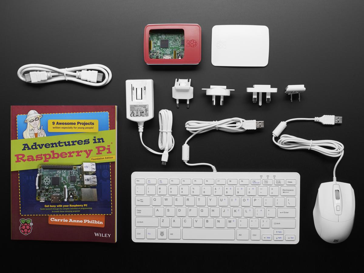 0d503b1b6f8 Raspberry Pi Foundation Starter Kit with Pi 3 ID: 3277 - $139.95 : Adafruit  Industries, Unique & fun DIY electronics and kits
