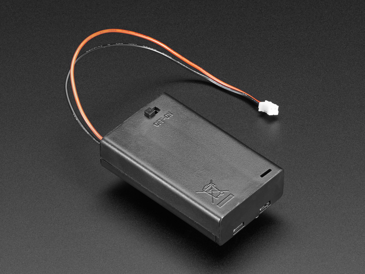 3 x AAA Battery Holder with On/Off Switch, JST, and Belt ... Aaa Battery Box Wiring Diagram on