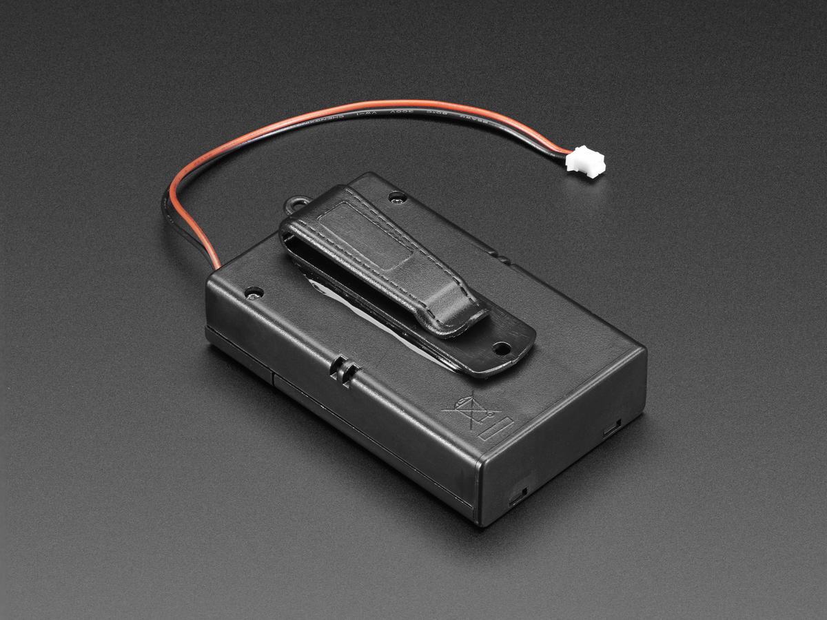 Battery Holders Adafruit Industries Unique Fun Diy Electronics Knife Switch Fuse Box 3 X Aa Holder With On Off Jst And Belt Clip