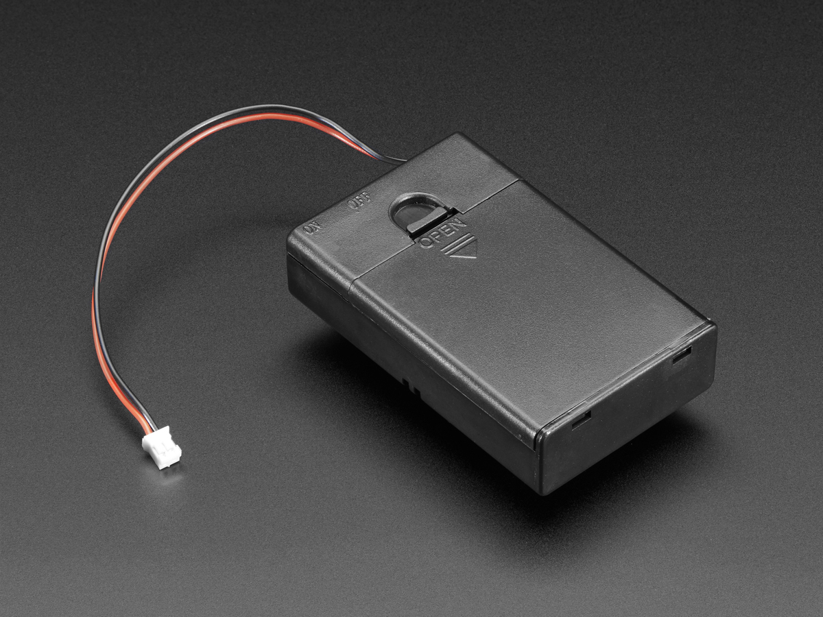 3 x AA Battery Holder with On/Off Switch, JST, and Belt Clip ID ...
