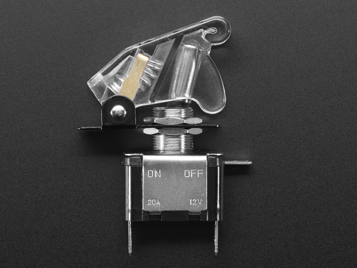 Illuminated toggle switch with cover white clear id for Unique switches