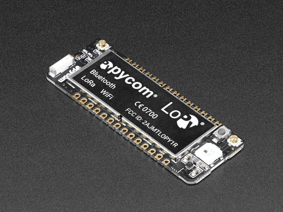 Pycom LoPy 1 0 - LoRa + WiFi + BLE ID: 3339 - $39 95 : Adafruit