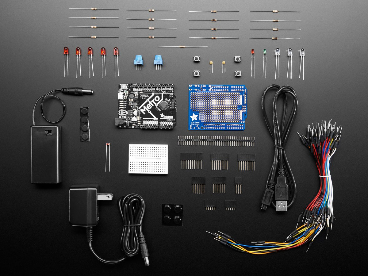 Young Engineers Adafruit Industries Unique Fun Diy Electronics Jpg Electrical And Electronic Project Engineering Topics Metro 328 Starter Pack