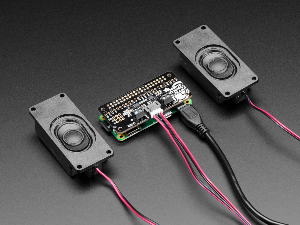 Adafruit I2S 3W Stereo Speaker Bonnet for Raspberry Pi [Mini Kit] ID