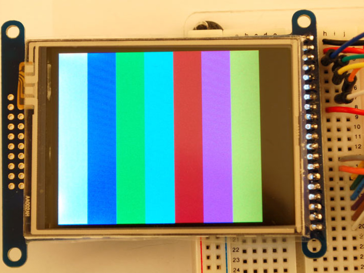 2 8 18-bit color TFT LCD with touchscreen breakout board