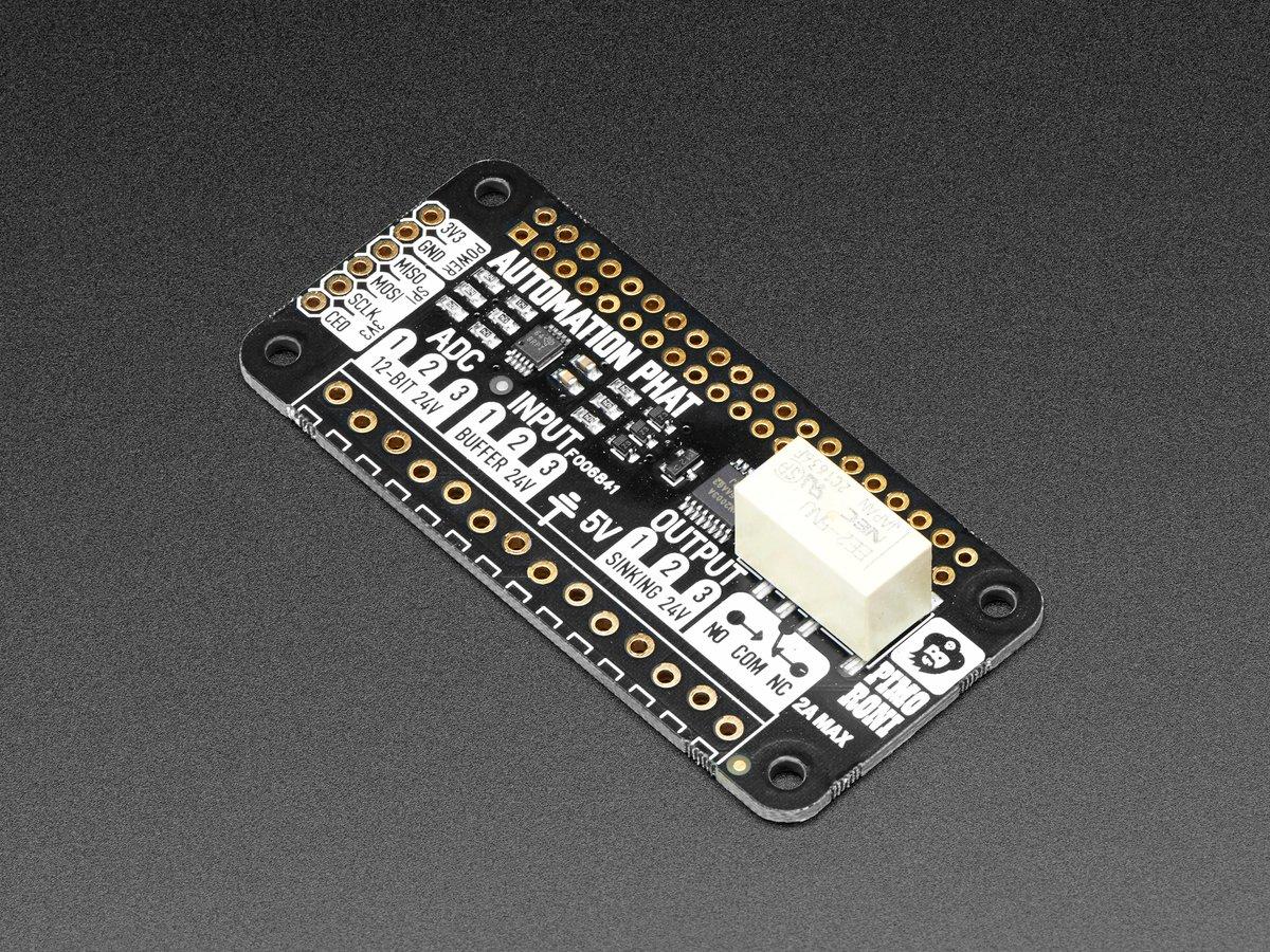 Pimoroni Automation pHAT for Raspberry Pi Zero ID: 3352 - $12 95