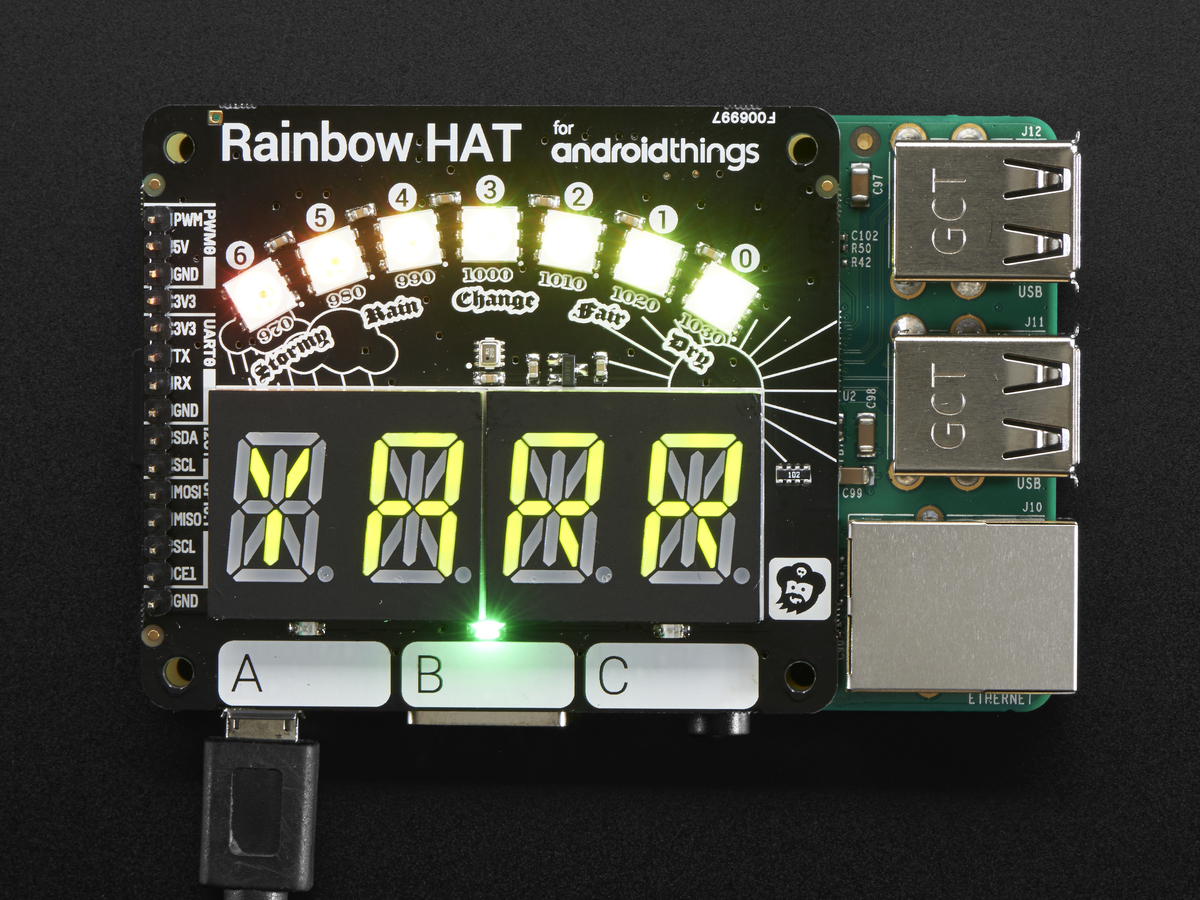 Pimoroni Rainbow HAT for Android Things™ and Raspberry Pi ID: 3354