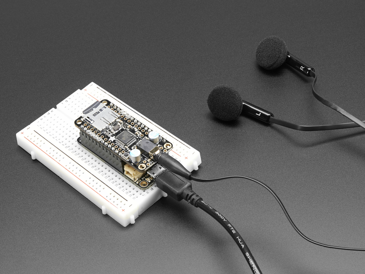 Adafruit Music Maker FeatherWing - MP3 OGG WAV MIDI Synth