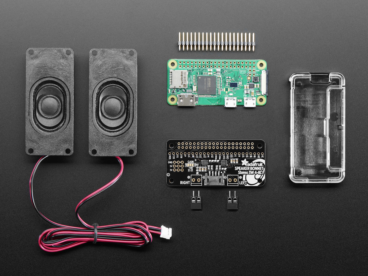 Stereo Bonnet Pack For Raspberry Pi Zero W Includes Pi Zero W Id