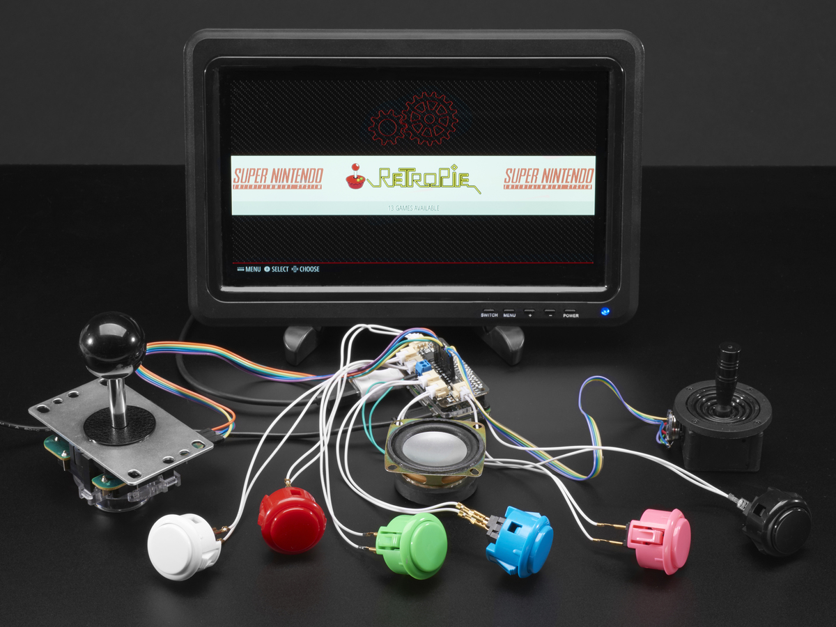 Adafruit Arcade Bonnet for Raspberry Pi with JST Connectors [Mini