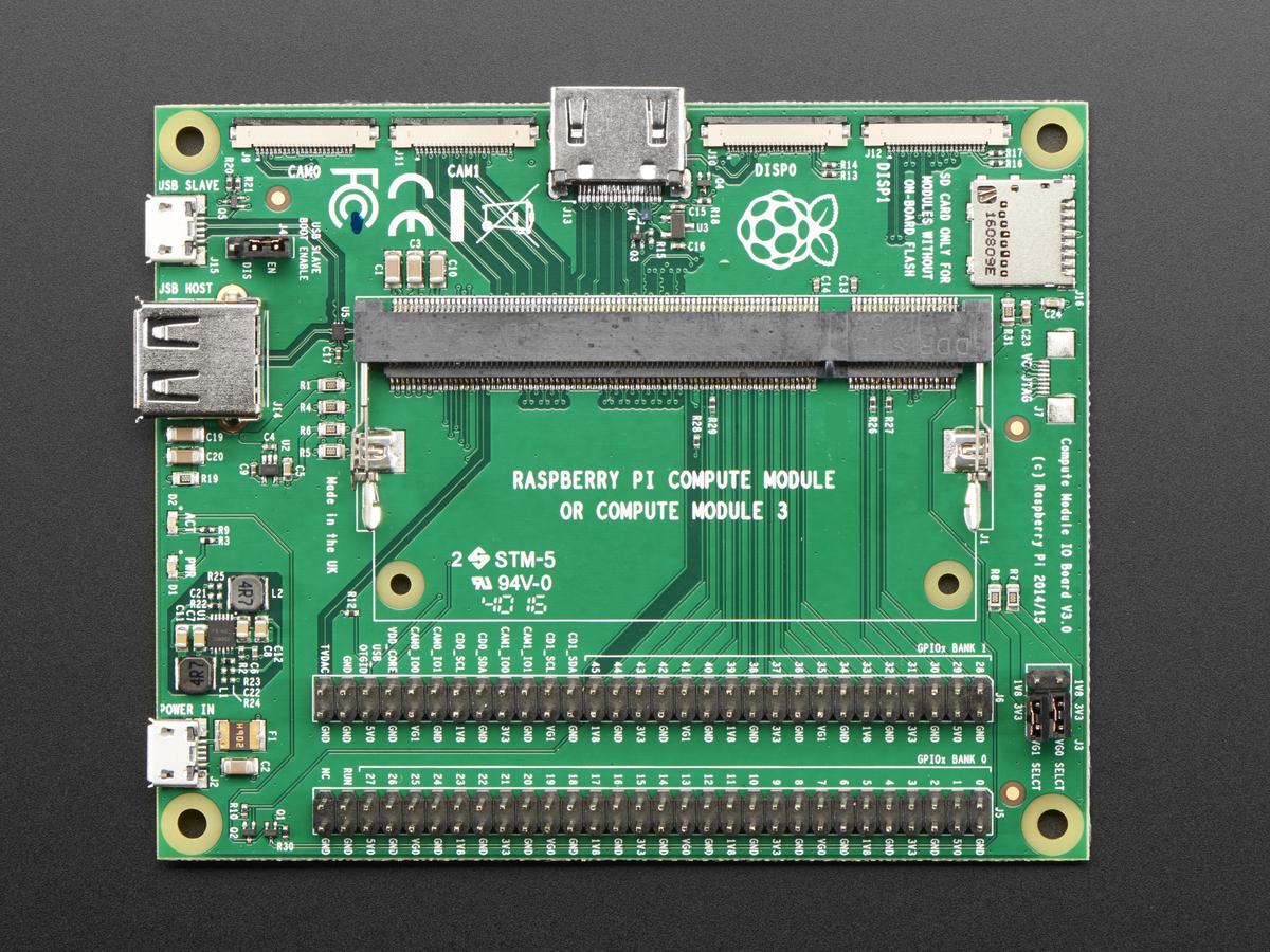 raspberry pi compute module i o board v3 id 3442 114 95 rh adafruit com Raspberry Pi Computer Module Kit Impinj RFID Module