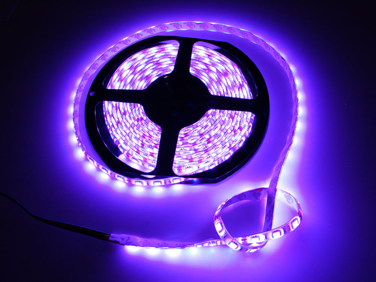 Wiring Rgb Led Strips Adafruit Learning System Usb Power Cable Color Schematic Weatherproof Flexi Strip 60 M