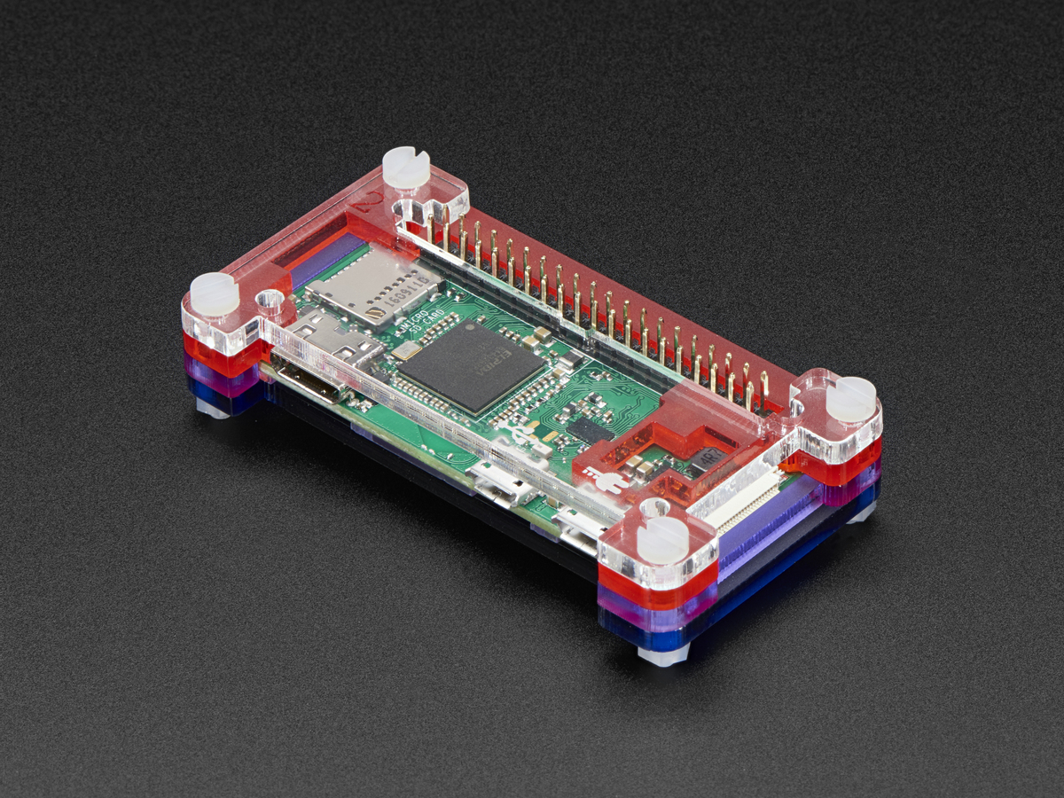Pibow Zero W Case for Raspberry Pi Zero W ID: 3471 - $5 95