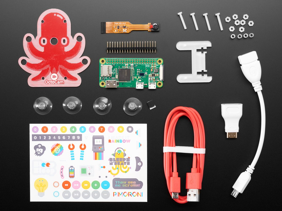 Pimoroni OctoCam - Pi Zero W Project Kit (Pi Included!) ID: 3579